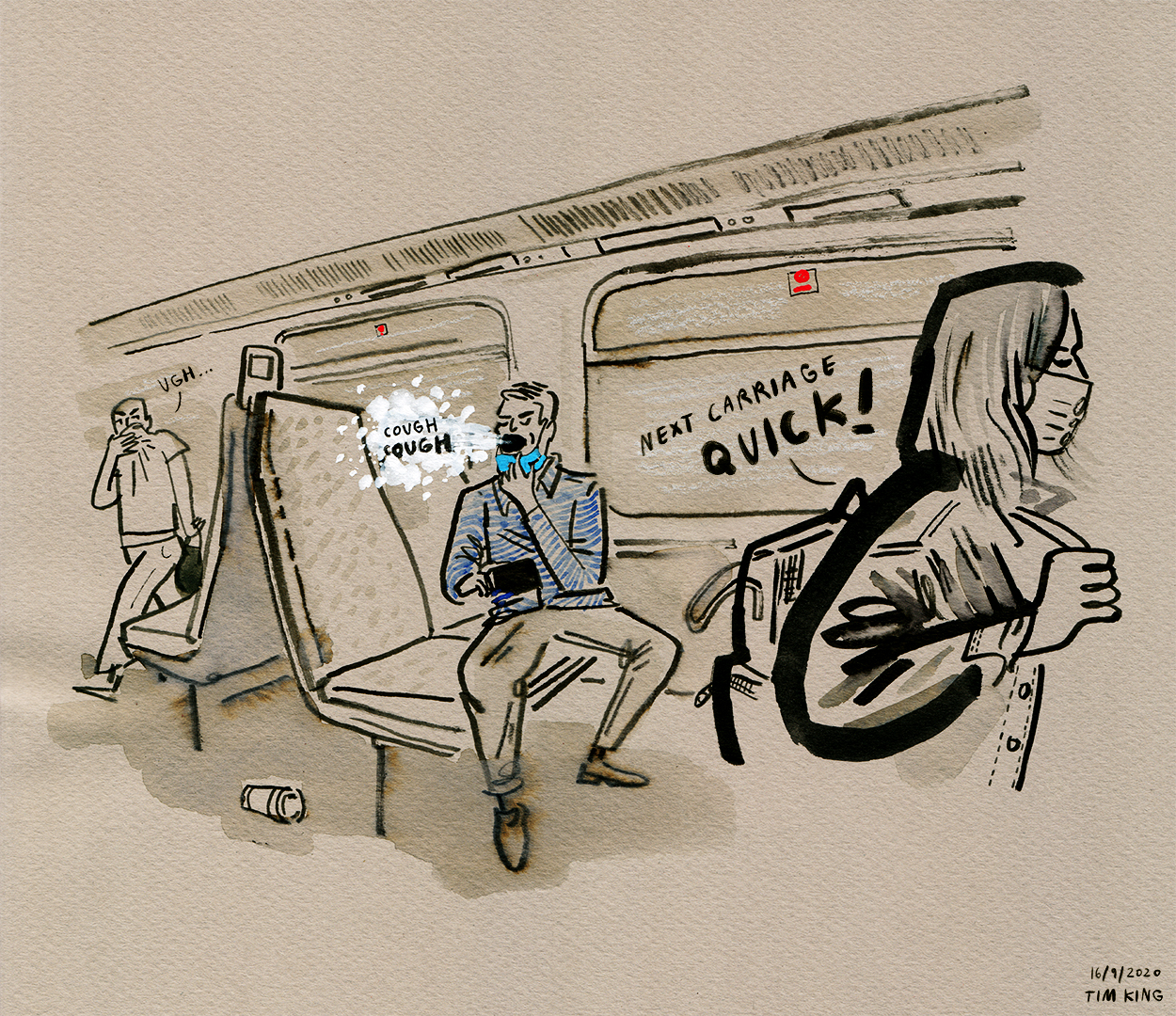 2020_Day-260_Evacuating-the-train-carriage-after-someone-pulls-down-their-mask-to-cough